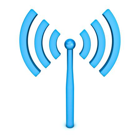 signals: Wifi symbol icon on white background