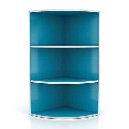 Shelf isolated on white background with reflection Stock Photo - 13864656
