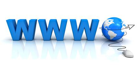 Internet world wide web concept