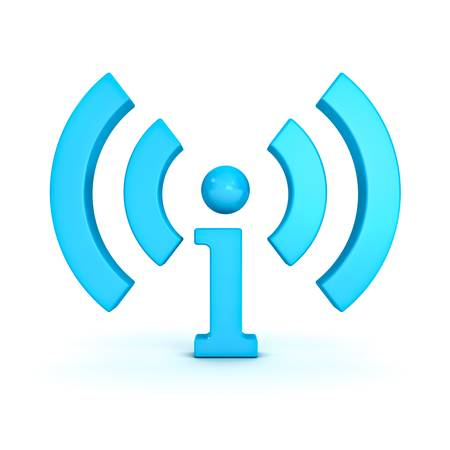 rss sign: I information and wireless wifi icon isolated on white background