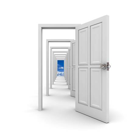 door way: White doors on white background