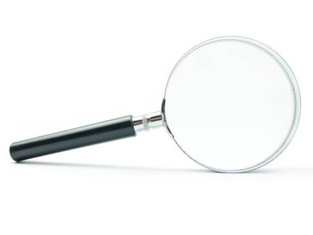 Magnifying Glass on white background with shadow photo