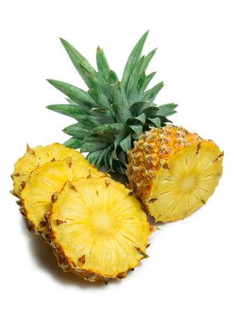Pineapple on white background photo