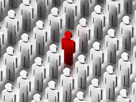 one people: Stand Out From The Crowd Stock Photo