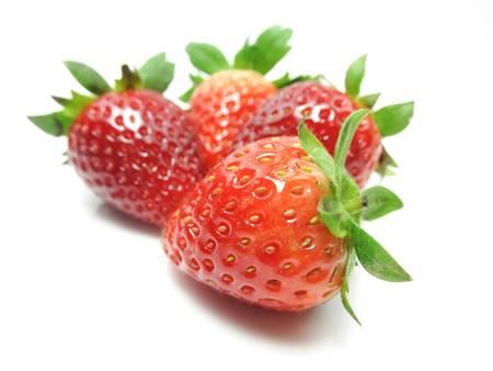 dietetical: Strawberries on white background