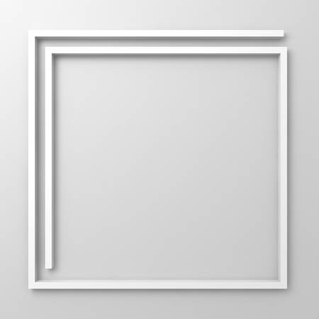 Abstract frame border on white background photo