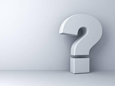 punto interrogativo: Punto interrogativo su sfondo bianco
