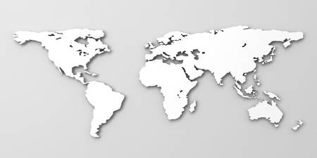 White world map Stock Photo - 20197226