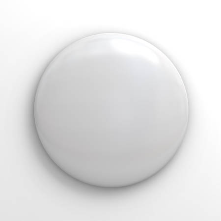 Blank badge button on white background photo