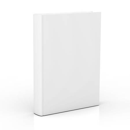 ebook cover: Blank book cover isolated on white background with reflection