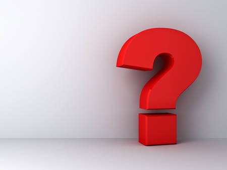 Red question mark on white background 版權商用圖片 - 39715864