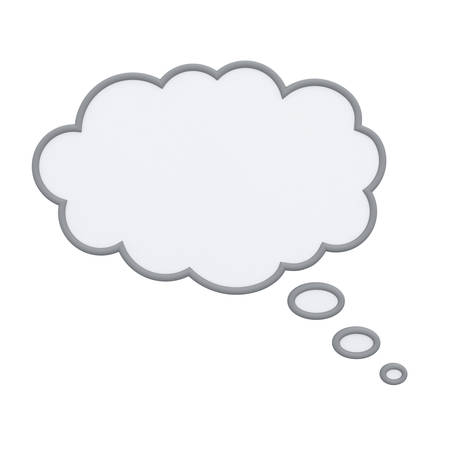 Thinking bubble isolated over white background