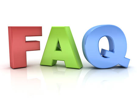 frequently: 3d faq word or frequently ask question isolated over white background