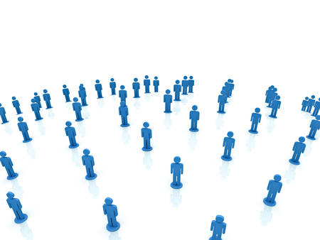 network people: Social network people over white background