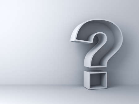 big boxes: Question mark on white background