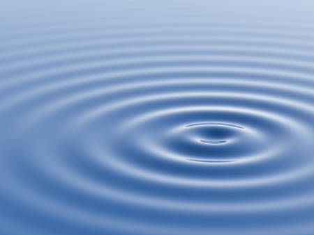 水面波や波紋。3 D レンダリング。 写真素材