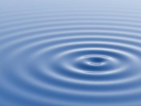 golven en ribbels water. 3D-rendering.
