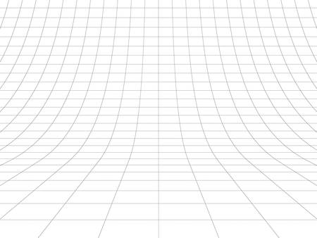 grids: Perspective grid over white background. 3D rendering. Stock Photo