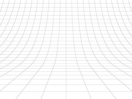 Perspective grid over white background. 3D rendering. Standard-Bild