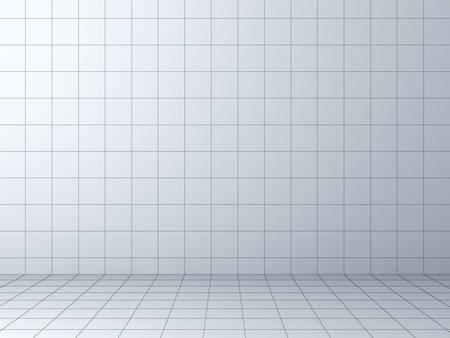 Perspective grid background 3D rendering Foto de archivo