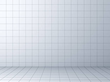 Perspective grid background 3D rendering Stock Photo