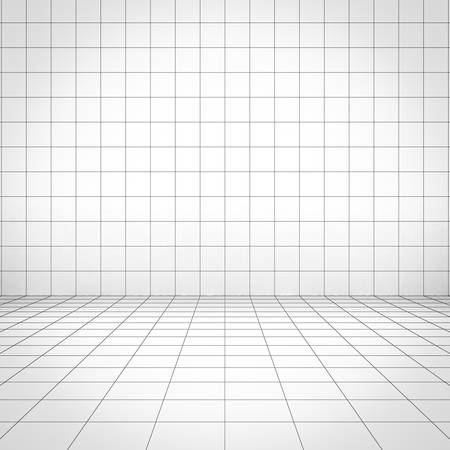 perspective grid: Grid background perspective view. 3D rendering.