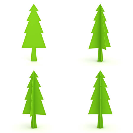 Christmas tree isolated on white background for christmas decoration 3D rendering