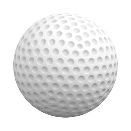 golfball: Golf ball isolated over white background 3D rendering