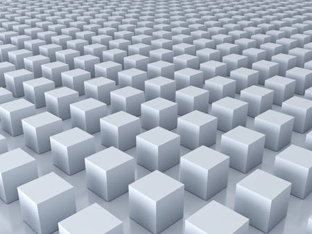 forme: 3d cubes background with reflections and shadows . 3D rendering.