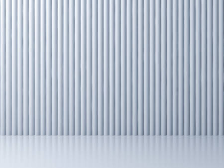 Abstract white striped background with reflections and shadows 3D rendering Stockfoto - 129594159