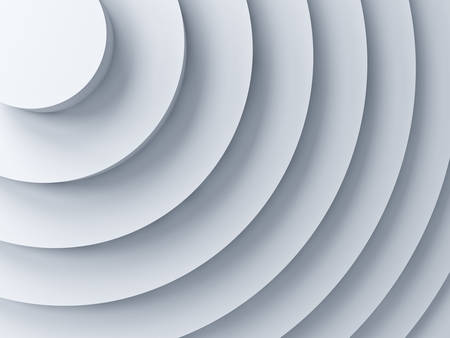3d abstract white curves background with shadow 3D rendering