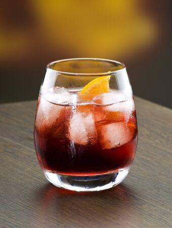 a campari coctail drink in a modern glass Stock Photo