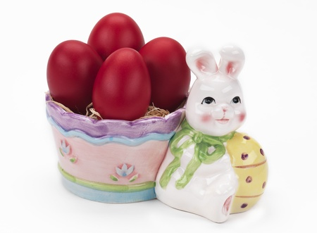 an easter decoration on a white background photo