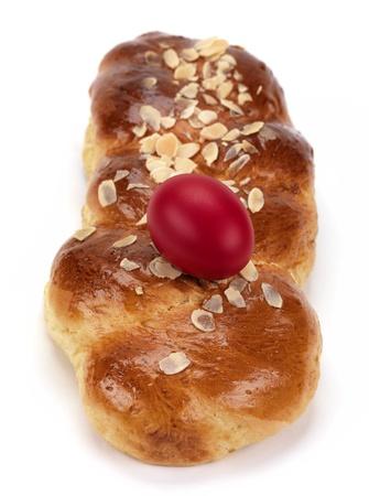 tsoureki, a greek recipe of a sweet bread made for easter celebration