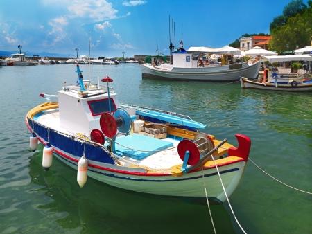 Der Hafen von Molivos, Dorf in der Insel Lesbos in Griechenland Standard-Bild - 25106123