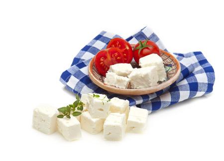 feta kaas, tomaat en oregano gestyled met Griekse adittude