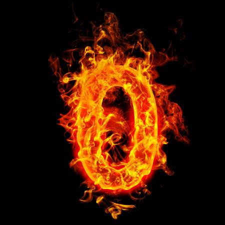 Feuer Nummer Null (0) Standard-Bild - 69566484