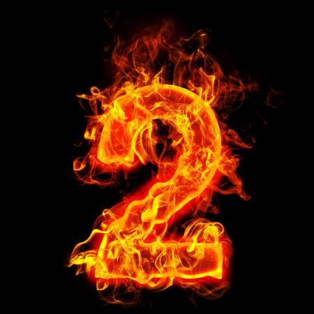 Feuer Nummer zwei (2) Standard-Bild - 69566324