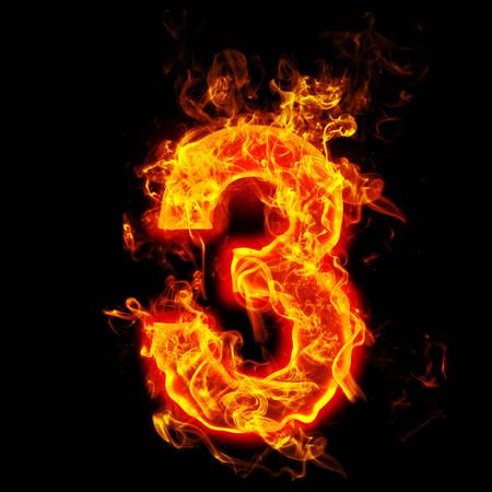 Feuer Nummer drei (3) Standard-Bild - 69968309