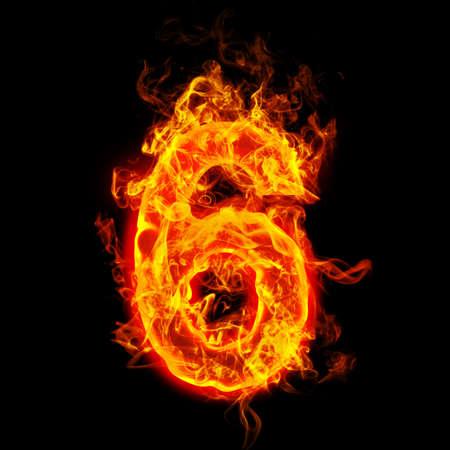 Fire number six (6) Stok Fotoğraf