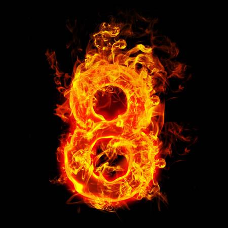 Feuer Nummer acht (8) Standard-Bild - 69566479