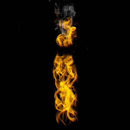 Alphabets in flame, letter i