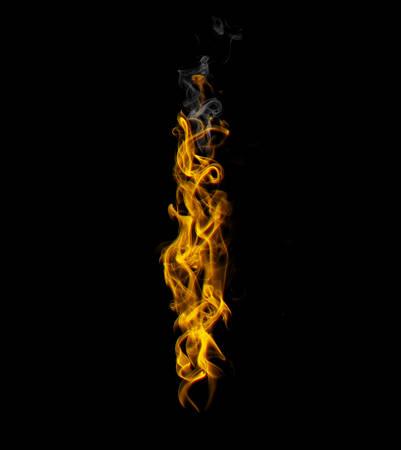Alphabets in flame, letter l Banco de Imagens - 107493476