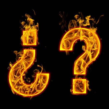 fire Question Mark  Check all fire letters in my portfolio.