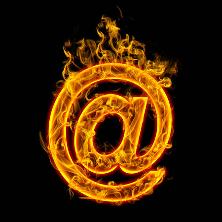 Burning e-mail symbol  Check all fire letters in my portfolio.