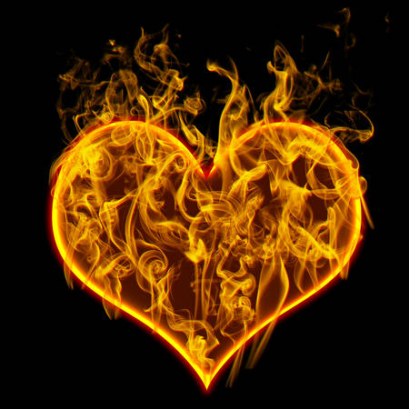 Ardent heart  Check all fire letters in my portfolio.