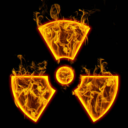 sign of radiation  Check all fire letters in my portfolio.