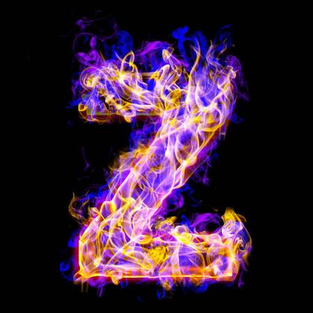 Alphabets in flame, letter Z Banco de Imagens