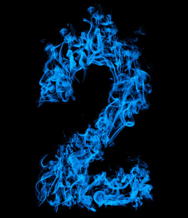 Number two blue fire