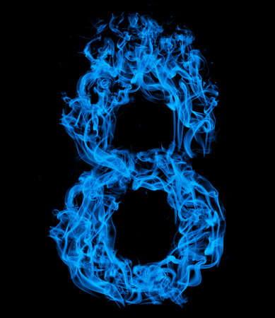Number eight blue fire